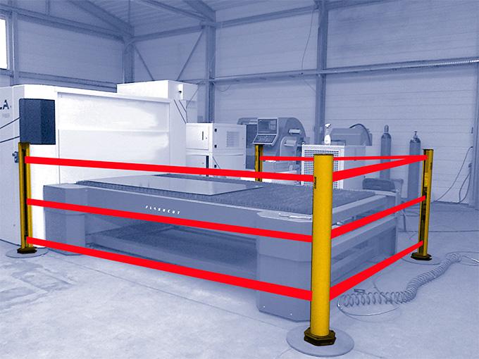 Защита периметра машины для лазерной резки